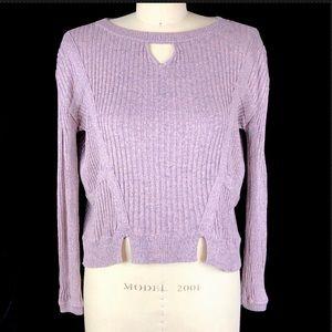 For Love & Lemons Knitz Ribbed Sweater Layfayette